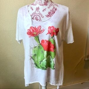 Wildfox Open Back Oversized Cactus T-shirt XS